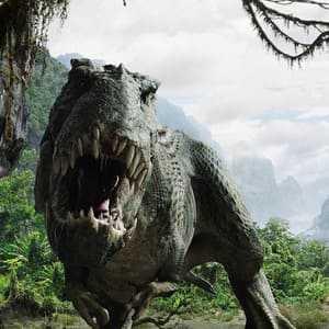 Представитель рода плотоядных динозавров - тираннозавр