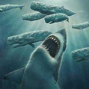 Мегалодон и киты