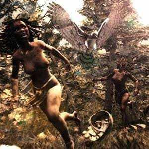 Орёл Хааста нападает на человека