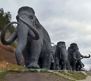 Памятник мамонтам