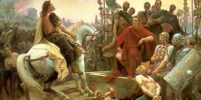 Галлы сдаются Цезарю