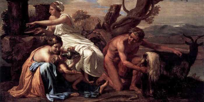 Кормление Зевса молоком божественной козы