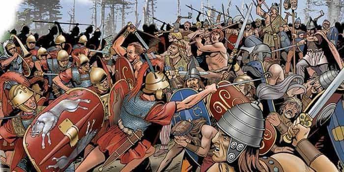 Римский легион против галлов
