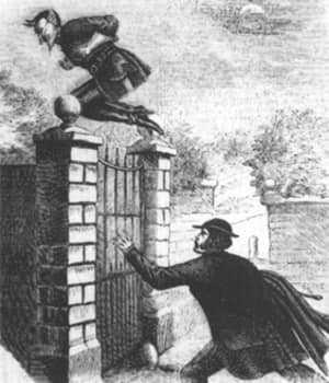 Джек-прыгун. Иллюстрация в журнале