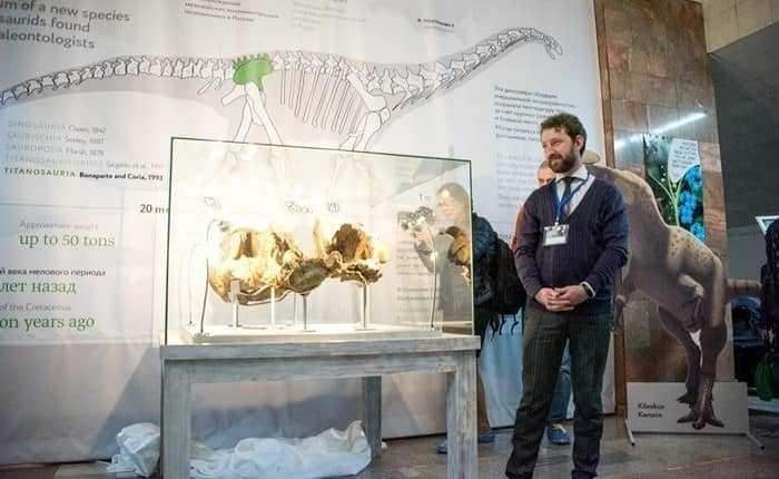 Выставка останков сибиротитана