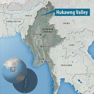 Бирма на карте