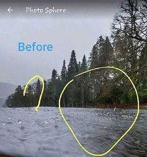 Снимок озера до появления лох-несского чудовища