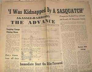 Заметка в газете о похищении Альберта Остмана