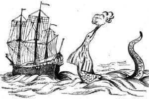 Морской змей и корабль