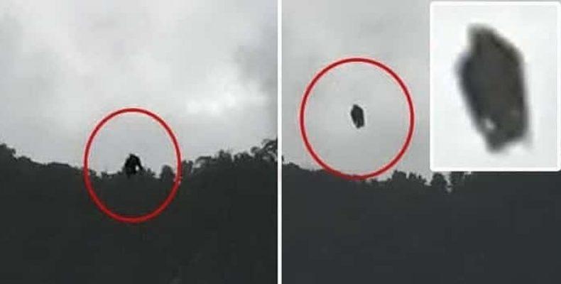 Черный гуманоид случайно попал в объектив фотокамеры