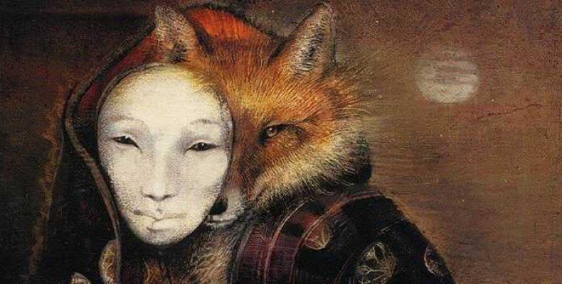 Японская мифология: Кицунэ — лиса-оборотень