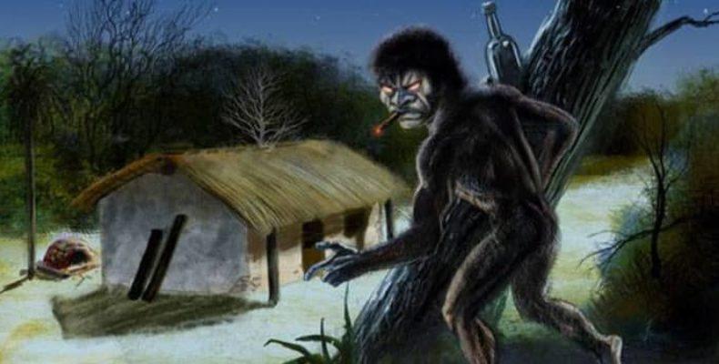 Агрессивное гуманоидное существо помберо из Парагвая