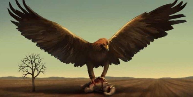 Громовая птица (птица Рух) в небе Калифорнии